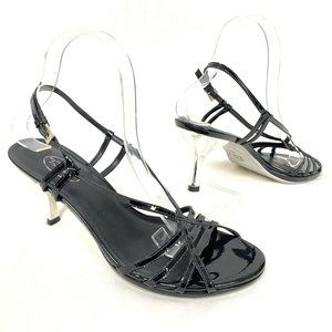 Talbots Strappy Slingback Heels 9 N Patent Leather
